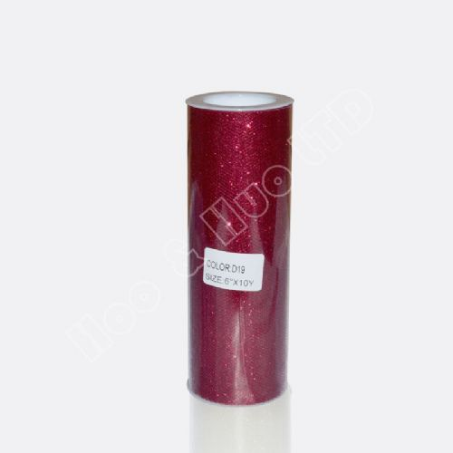 "Burgundy Wine Glitter Tulle Roll  6"" x 10 Y/ D19"